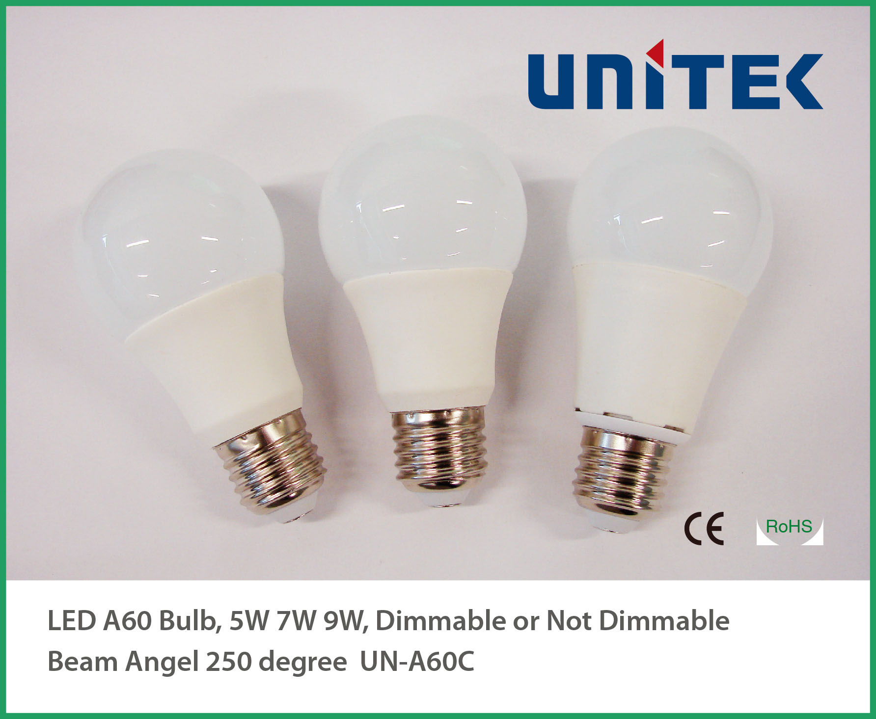 Economic A60 CRI80 E22 E27 LED Bulb